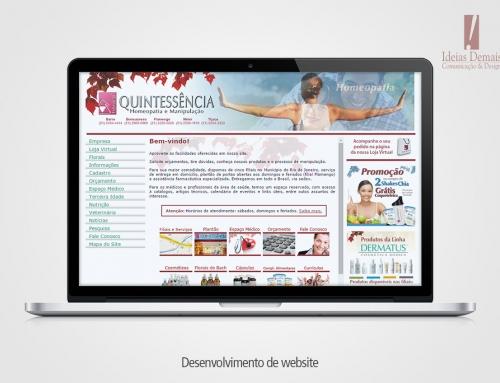 Web Site Farmácia Quintessência